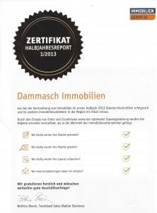Zertifikat Halbjahresreport 1/2013